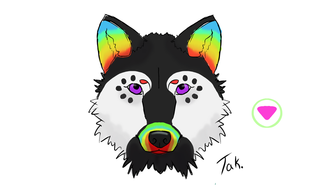 Safe zone headshot done by Tak. by CalicoWoolfe