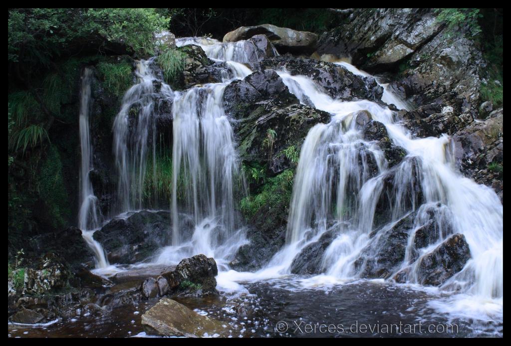 Rhiwargor Falls by Xerces