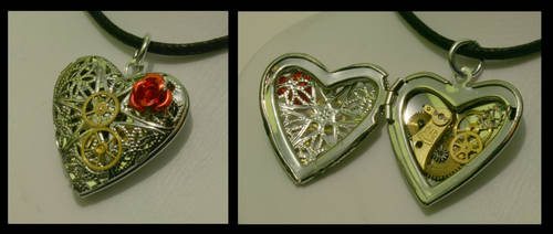 Steampunk Locket by Xerces