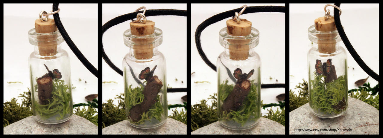 Woodland butterfly vial by Xerces