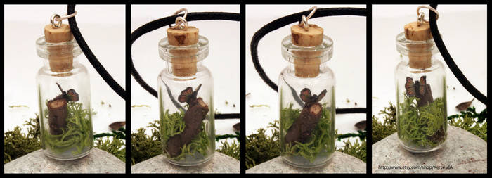 Woodland butterfly vial