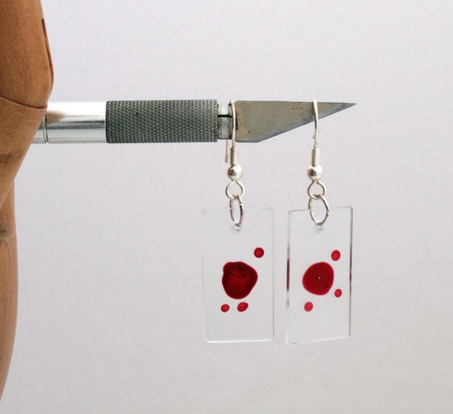 Dexter Blood Slide Earrings by Xerces