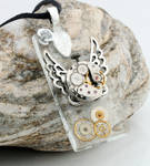 Steampunk watch tile pendant