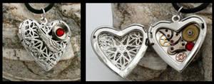 Valentines steampunk locket