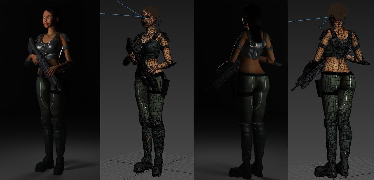 Jessie Wires (Work in progress) by spartanx118