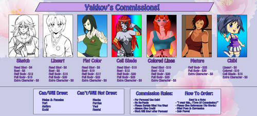 Commission Sheet by Yakkov