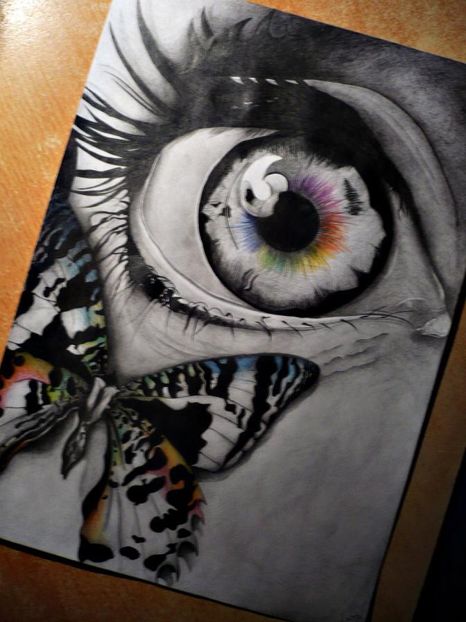 Butterfly eye by looki mike nike on deviantart for Cool drawings of butterflies