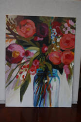 Jar of Flowers Acrylic by Dragondealer