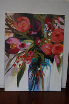 Jar of Flowers Acrylic