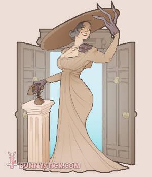 Lady Dimitrescu Mixel Art Nouveau