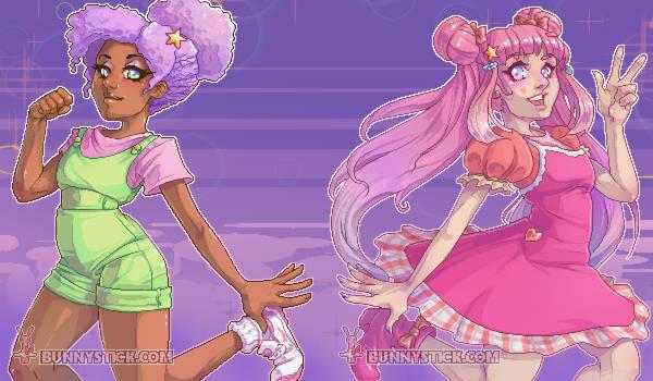 $25 Mixel Commissions: Arisuki and Nessa