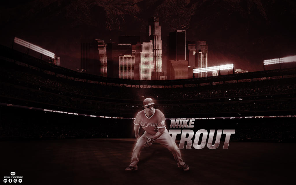 Mike Trout Wallpaper By Newtdesigns On Deviantart