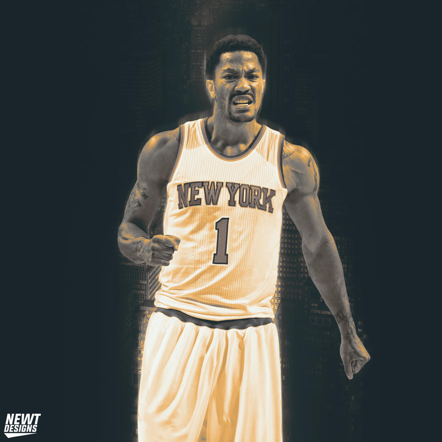 Derrick Rose New York Knicks By NewtDesigns