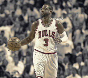 32ee9624357 NewtDesigns 2 0 Dwyane Wade Jersey Swap - Chicago Bulls by NewtDesigns