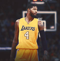 63222d5c5fa NewtDesigns 3 0 Paul George Jersey Swap - Los Angeles Lakers by NewtDesigns