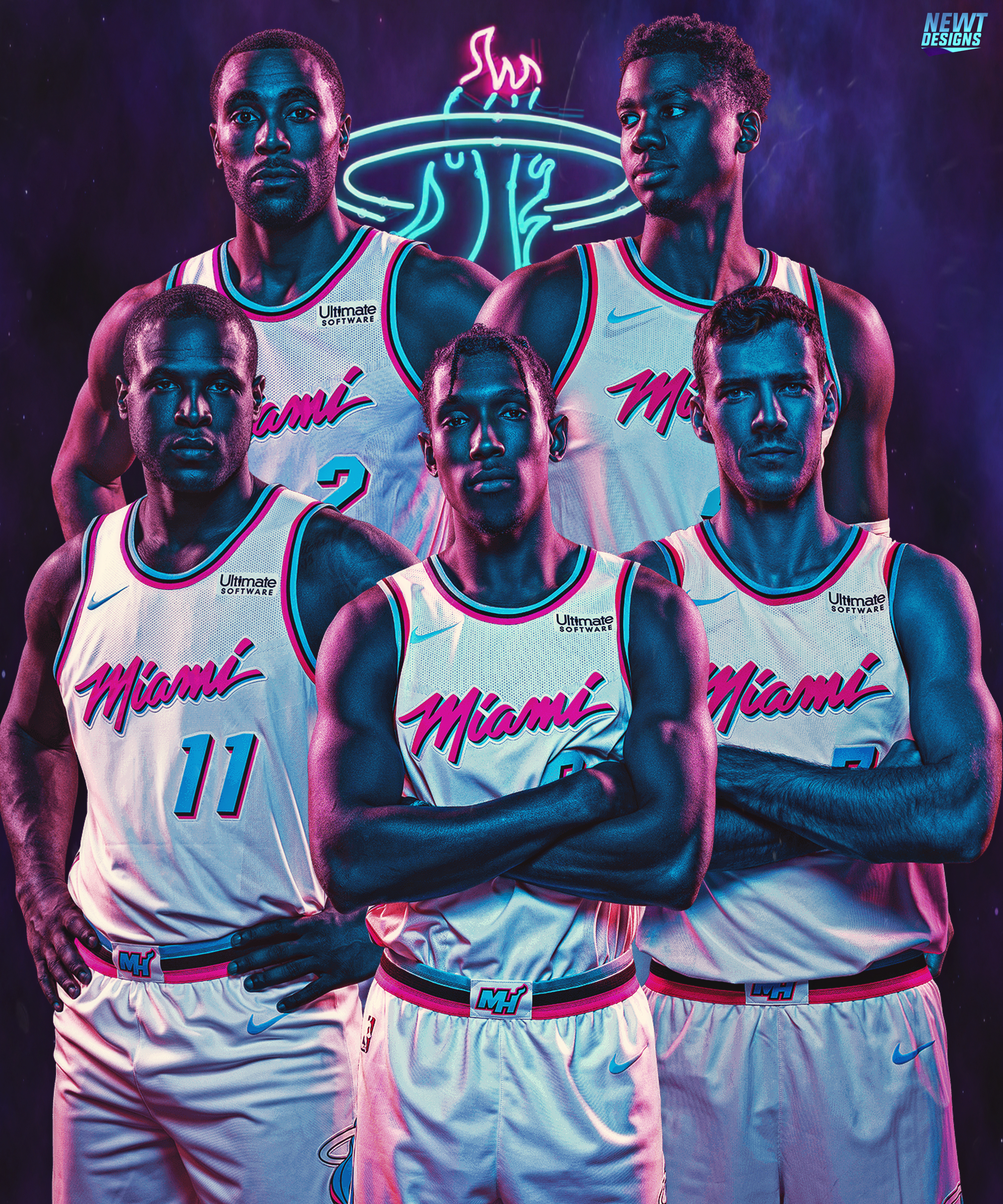finest selection bb0b2 9cd94 Miami Heat Vice Jerseys by NewtDesigns on DeviantArt