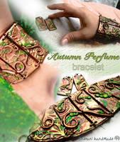 Autumn Perfume Bracelet and Earrings by indrani-handmade
