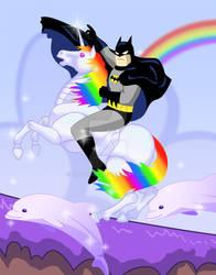 Robot unicorn rider, Batman