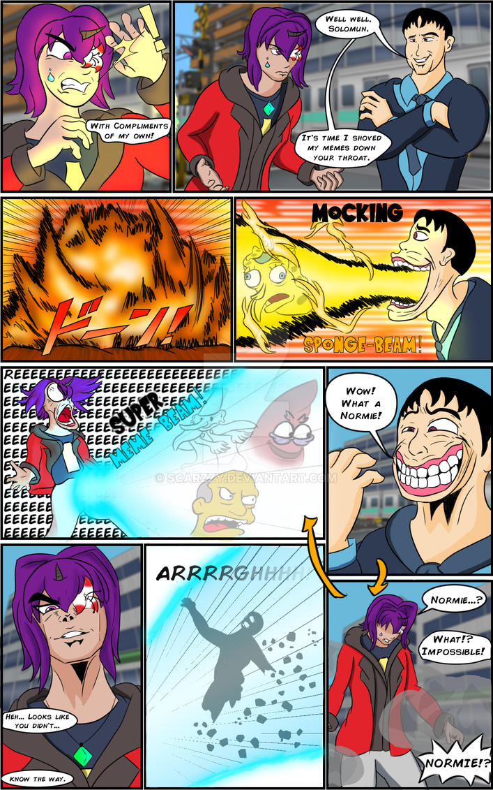 Comic Commission: Meme FighterZ by Scarzzy