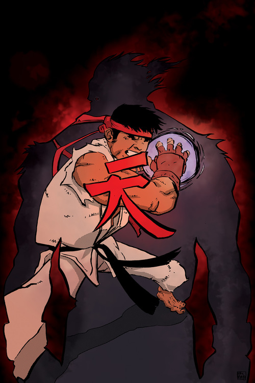 Ryu v Akuma by ellisthree