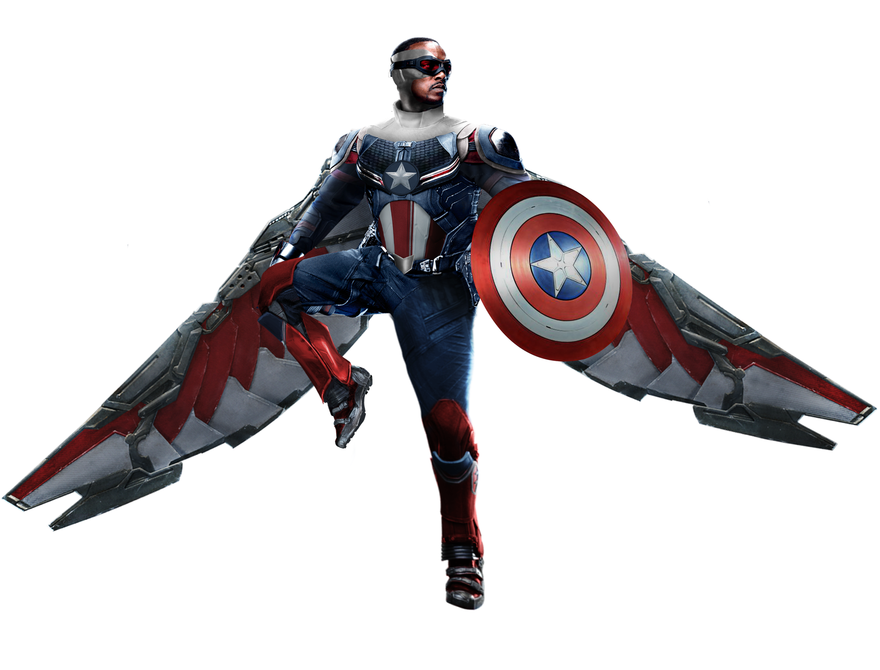 Falcon Captain America Disney+ by GUERRERO3628 on DeviantArt