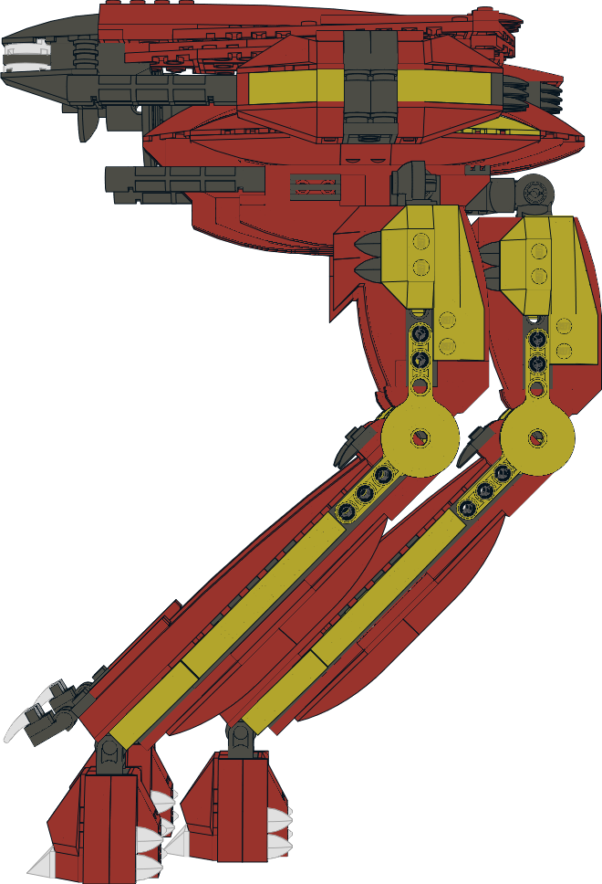 Lego Mecha: Red Queen 004. by Kantorock
