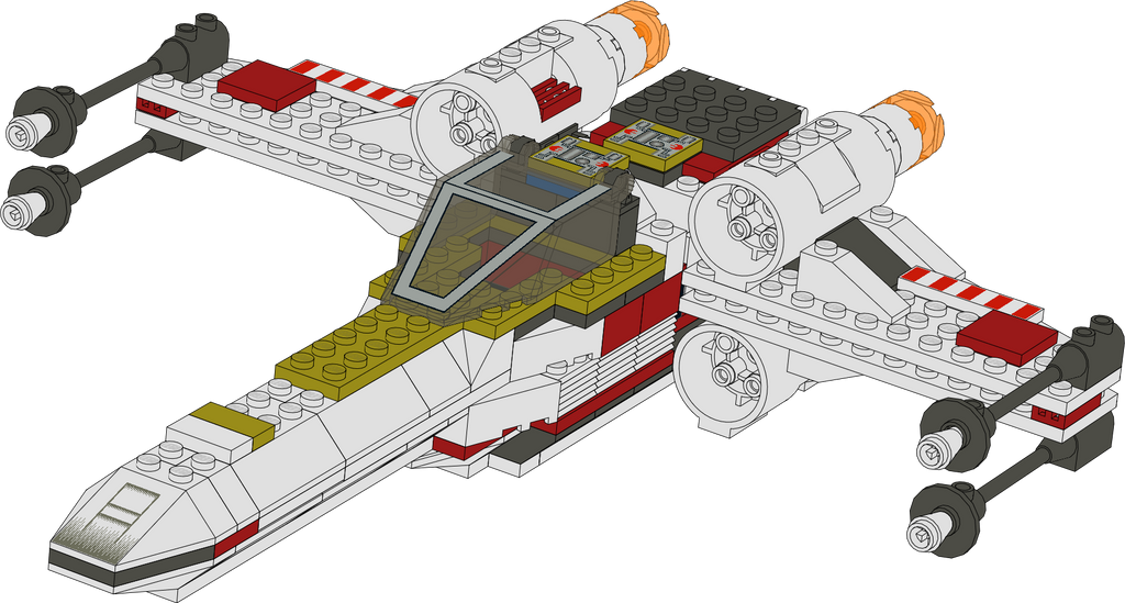 Lego Star Wars 7140 X Wing Fighter By Kantorock On Deviantart