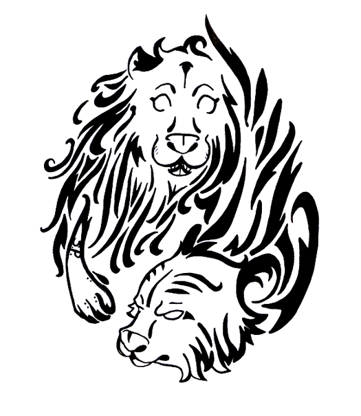 Tribal Tiger By Ruttan On Deviantart: Tiger And Lion Tribal Tattoo By Celesime On DeviantArt