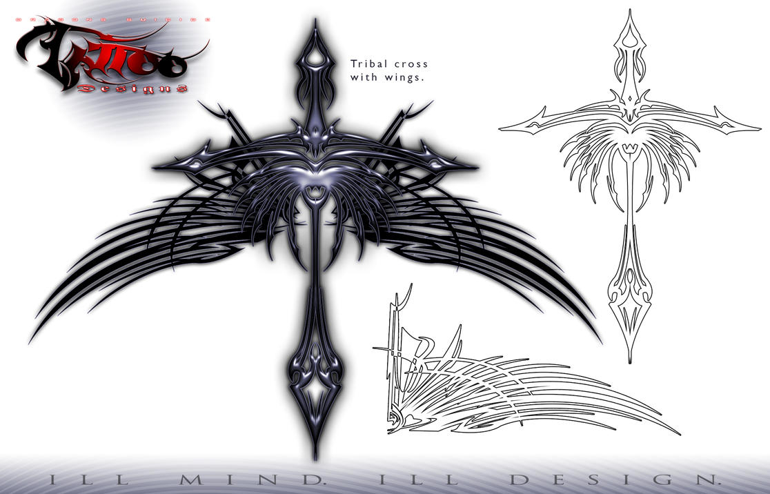 tribal cross with wings by roo157 on deviantart tribal crossTribal Cross With Tribal Wings