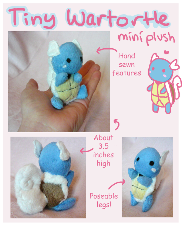Micro Wartortle Pokemon plushie! by SilkenCat