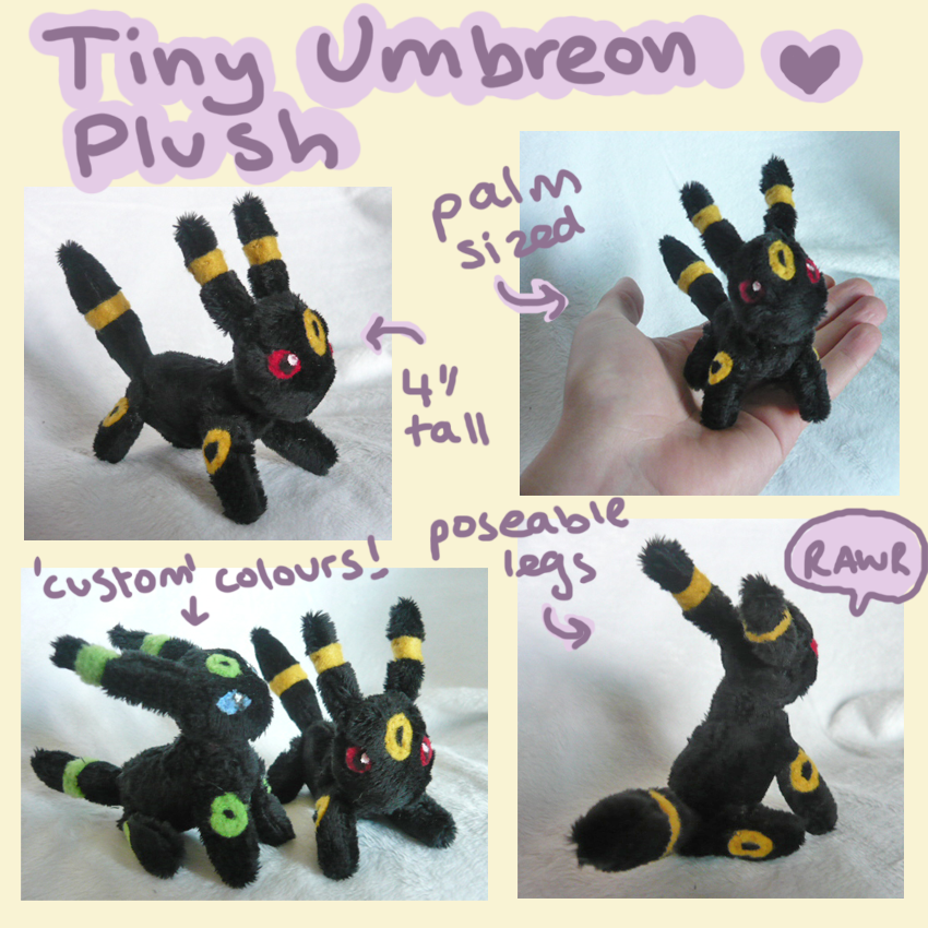 Tiny Umbreon plush by scilk