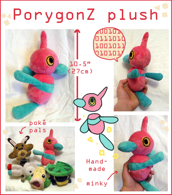 PorygonZ Pokedoll plush by scilk