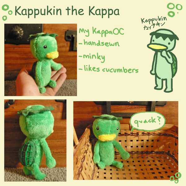 Kappukin the Kappa plush by scilk