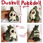 Duskull Pokepal plush art trade