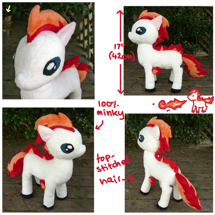 My Little Ponyta plush prototype 1 by SilkenCat