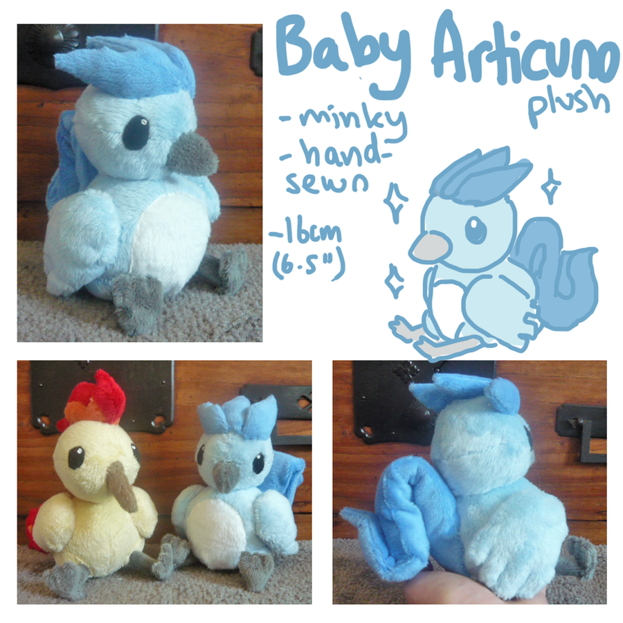 Baby Articuno plush by scilk
