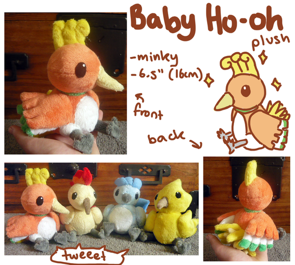 Baby Ho-oh plush by scilk