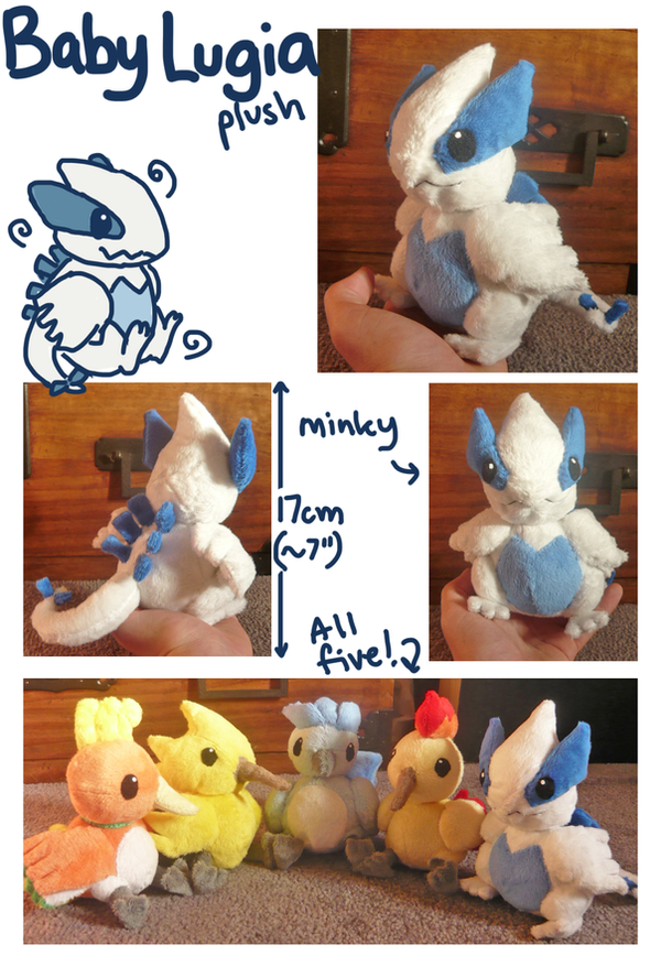Baby Lugia plush by SilkenCat