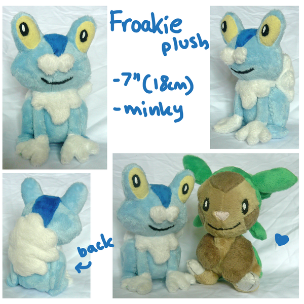 Froakie gen 6 Pokemon starter plush by SilkenCat