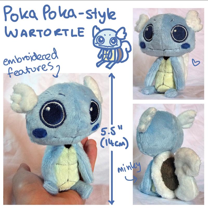 Poka Poka Wartortle plush by SilkenCat