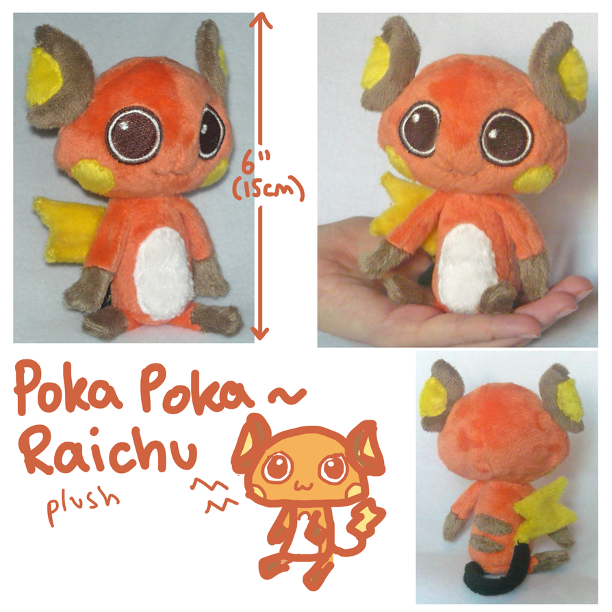 Poka Poka Raichu plush by scilk