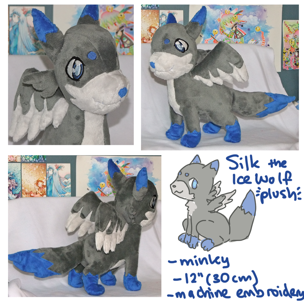 Silk Wolf Plush by SilkenCat