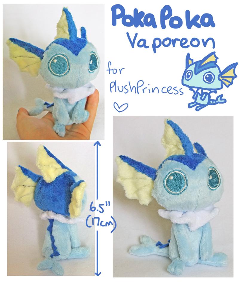 Poka Vaporeon Plush by SilkenCat