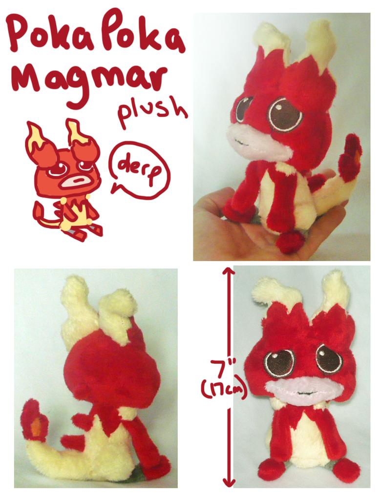 Poka Poka Magmar plush by SilkenCat