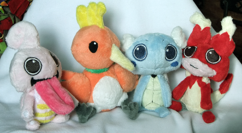 Plushies for Xsystem by scilk