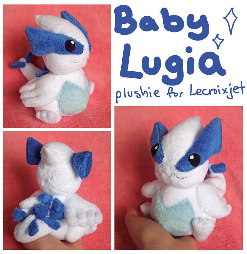 Baby Lugia plushie for Lecroixjet by scilk