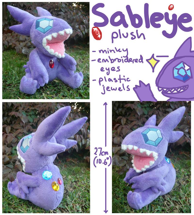 Sableye Plush by SilkenCat
