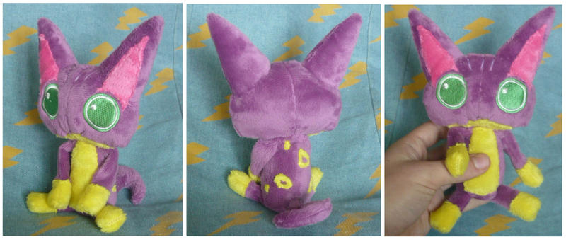 Poka Poka Liepard plush for Poke-Rose13 by scilk