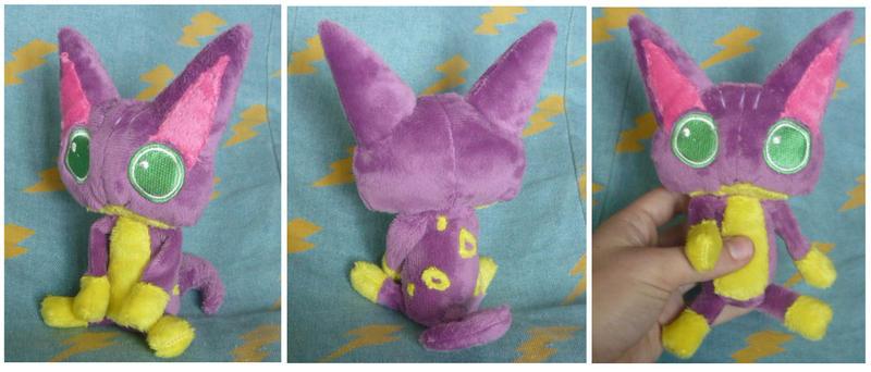 Poka Poka Liepard plush for Poke-Rose13 by SilkenCat
