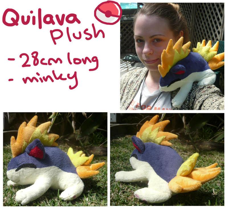 sleepy Quilava plush by scilk
